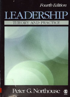 Page 1 formſ, Edition LEADERSHIP THEORY AND PRACTICE Peter G.Northouse s SAGE Page 2 ...