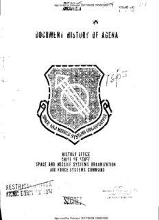 document history of agena
