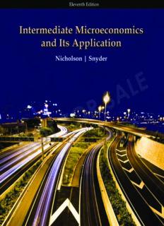 Intermediate Microeconomic Theory – Walter Nicholson