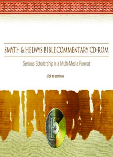 Smyth & Helwys Bible Commentary: The Book of the Twelve: Micah–Malachi