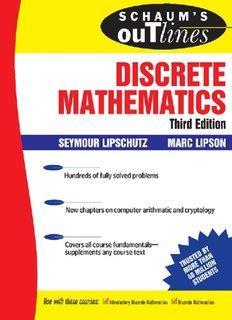 Schaum's Outline of Discrete Mathematics, Third Edition (Schaum's