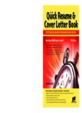 The Quick Resume & Cover Letter Book: Write and Use an Effective Resume in Just One Day (Quick