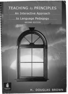 Douglas. Teaching by Principles: An Interactive Approach to Language Pedagogy