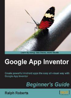 Google App Inventor Beginner's Guide