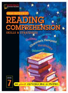 Reading Comprehension Skills and Strategies Level 7 (High-Interest Reading Comprehension Skills & Strategies)