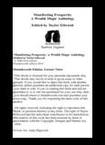 Manifesting Prosperity A Wealth Magic Anthology Edited by Taylor Ellwood