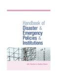 DISASTER MANAGEMENT Handbook of Disaster & Emergency Policies & Institutions.pdf