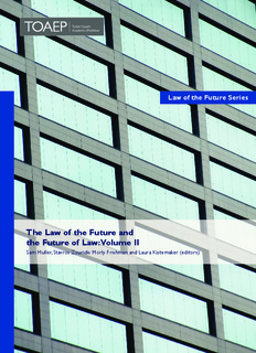 The Law of the Future and the Future of Law: Volume II - FICHL