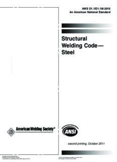 Structural welding code--steel