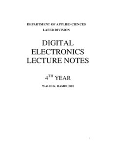 DIGITAL ELECTRONICS LECTURE NOTES