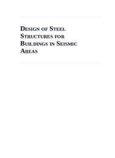 Design of Steel Structures for Buildings in Seismic Areas: Eurocode 8: Design of Structures for Earthquake Resistance. Part 1: General Rules, Seismic Action and Rules for Buildings