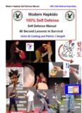 Modern Hapkido Self Defense Manual 100% Self Defense