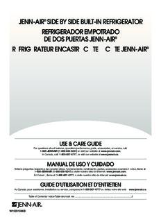 jenn-air® side by side built-in refrigerator refrigerador empotrado de dos puertas jenn-air ...
