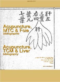 Acupuncture, TCM & Liver Acupuncture, MTC & Foie