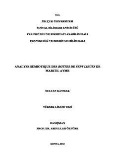 analyse semiotique des bottes de sept lieues de marcel ayme