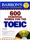 600 Essential Words for the TOEIC: with Audio CD