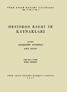 Hesiod Eseri ve Kaynakları - Hesiodes