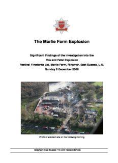 The Marlie Farm Explosion