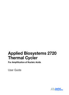 Applied Biosystems 2720 Thermal Cycler For Amplification of