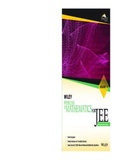 Wiley s Problems in Mathematics for IIT JEE Main and Advanced Vol II 2 Maestro Series with Summarized Concepts