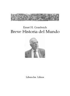Breve Historia del Mundo, Ernst H. Gombrich