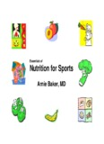 Essentials of Nutrition for Sports