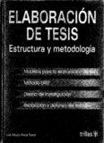 Elaboración de tesis: estructura y metodología
