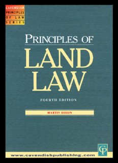 Principles of Land Law (Principles of Law)