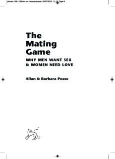 Allan & Barbara Pease The Mating Game WHY MEN WANT SEX & WOMEN NEED LOVE