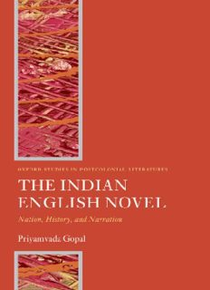The Indian English Novel: Nation, History, and Narration