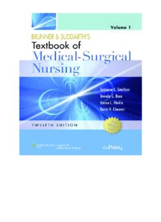 Brunner and Suddarth's Textbook of Medical Surgical Nursing: In One Volume