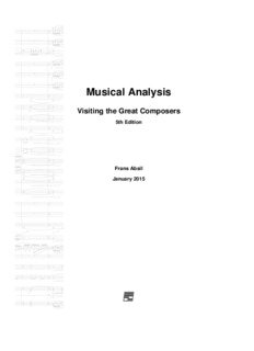 Musical Analysis: Visiting the Great Composers - Frans Absil Music