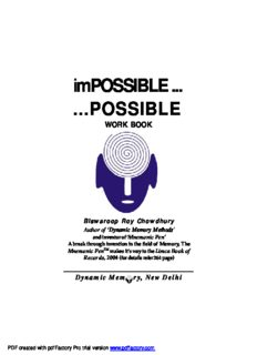 impossible possible by Biswaroop Roy Chowdhury