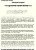 Theodore Sturgeon - Voyage to the Bottom of the Sea