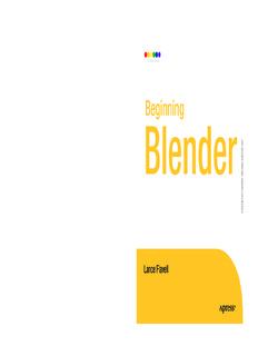 Beginning Blender Open Source 3D Modeling, Animation - GUTL