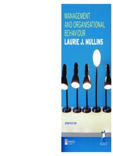 management and organisational behaviour laurie j. mullins