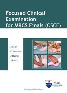 Focused Clinical Examination for MRCS Finals (OSCE)