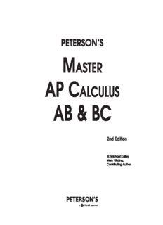 Master the AP Calculus AB & BC (Peterson's Ap Calculus Ab & Bc)
