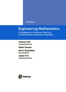 Engineering Mathematics. A Foundation for Electronic, Electrical, Communications and Systems Engineers