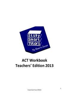 Study Smart Tutors - ACT Prep Workbook