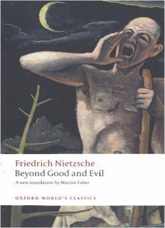 Friedrich Nietzsche Beyond Good and Evil