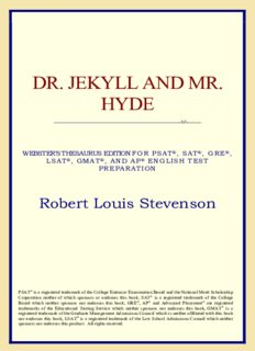 Dr. Jekyll and Mr. Hyde (Webster's Thesaurus Edition)