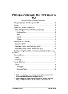 Participatory Design: The Third Space in HCI - IBM T.J. Watson