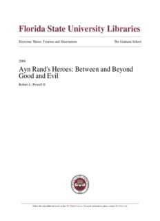Ayn Rand's Heroes: Between and Beyond Good and Evil