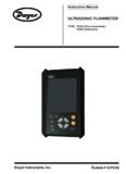 ULTRASONIC FLOWMETER - Dwyer Instruments, Inc.