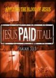 Applying the blood of jesus