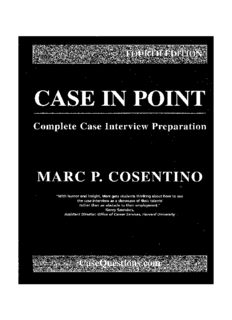 Case in Point. Complete Case Interview Preparation