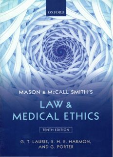 Mason and McCall Smith's Law and Medical Ethics