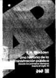 """GLADDEN, E.N.: """"Una Historia de la Administración Pública desde los Primeros Tiempos hasta el ..."""