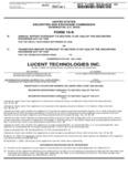 Form 10K Lucent Technologies - Alcatel-Lucent
